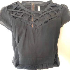 Black dress w/gold zipper up back